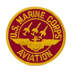 Marine Circular Embroidered Military Patch - Aviation