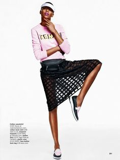 visual optimism; fashion editorials, shows, campaigns & more!: let's play: genesis vallejo mota by arved colvin-smith for uk glamour june 20...