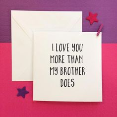 Funny mothers day card, love you more card, mother and daughter mum card, square Diy Father's Day Gifts Easy, Mother's Day Diy, Diy Gifts, Funny Fathers Day Card, Funny Mothers Day, First Mothers Day, Happy Mothers Day, Personalized Gifts For Dad, Kids Birthday Cards