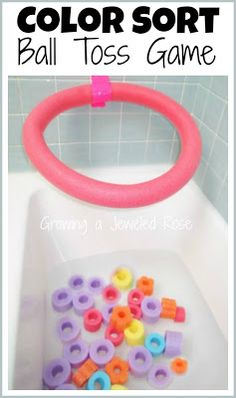 Bath Games with Pool Noodles ~ Bath Activities for Kids