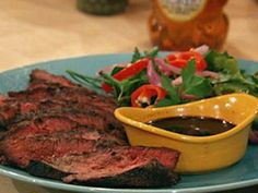 Michael Symon's Grilled Hanger Steak with Steak Sauce and Pickled Chilies : Mic. Michael Symon's Grilled Hanger Steak with Steak Sauce and Pickled Chilies : Michael Symon's Gr Red Onion Recipes, Chili Recipes, Steak Sauce Recipes, Quick Pickled Red Onions, Hanger Steak, Michael Symon, Flank Steak, Beef Dishes, Recipe Collection