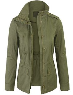 New Trending Outerwear: Kogmo Womens Zip Up Military Anorak Safari Jacket Coat -S-GREEN. Kogmo Womens Zip Up Military Anorak Safari Jacket Coat -S-GREEN   Special Offer: $28.99      399 Reviews Kogmo Womens Zip Up Military Anorak Safari Jacket CoatMachine Wash Cold Do Not Bleach, Trumble DryFeaturing functional front pockets with hidden waist drawstringElastic waist band on...