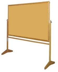 M Series Non-Reversible Easel with Tan Cork / Markerboard  - Wood Frame (FREE Shipping)