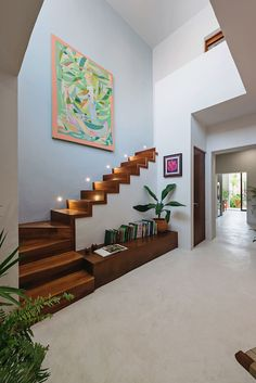 Modern House Interior Wall Construction All About the Casa Picasso by Workshop Architecture Wooden Staircases, Modern Staircase, Spiral Staircases, Workshop Architecture, Interior Architecture, Residential Architecture, Home Stairs Design, Home Interior Design, Modern Interior