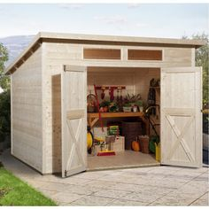 Weka 19 mm Gartenhaus Geräteschuppen Blockbohlenhaus Nova Plus   mein-wekashop.de