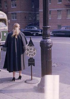New York City street scene, 1953 © Walker Evans