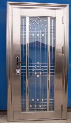 SHUT THE FRONT DOOR!!! Art deco door in polished nickel, this would look great as a front door!