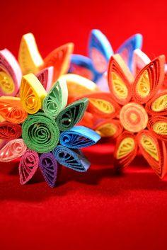 Martisoare quiling - Flori colorate (4 LEI la circulmagic.breslo.ro)