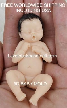 How to make a Ooak baby Ooak baby tutorial Baby sculpt tutorial babymold polymerclaybabysculpt fimobabysculpt sculpeybabysculpt siliconebabymold Polymer Clay Cake, Polymer Clay Fairy, Polymer Clay Figures, Polymer Clay Dolls, Polymer Clay Miniatures, Tiny Dolls, Ooak Dolls, Doll Tutorial, Cake Tutorial