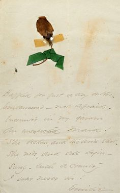 Emily Dickinson. Letters to Josiah Gilbert Holland and Elizabeth Chapin Holland (MS Am 1118.2) Includes some poems.