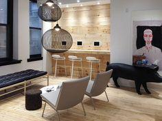 Dental office in New York - BCN stools by Harry & Camila for Kristalia #dentaloffice
