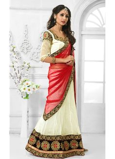 http://www.sareebuzz.in/lehenga-choli/magical-off-white-net-designer-a-line-lehenga-choli-11437  Magical Off White Net Designer A Line Lehenga Choli  Item Code: : 11437  Color : Off White  Occasion : Wedding Festival  Fabric : Net  Work : Embroidered Patch Border  For Inquiry Or Any Query Related To Product, Contact :- +91 9974 111 22