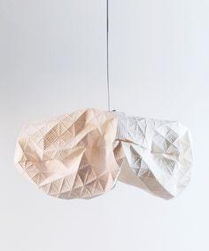"""Origami Lamp - White Très sympa allumée, encore plus en """"troupeau"""""""