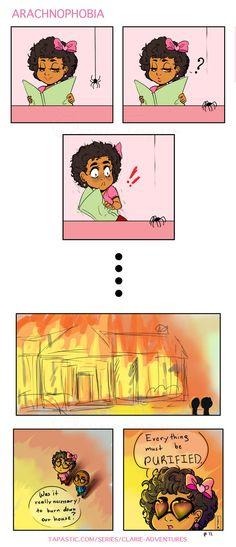 Clarie Adventures :: Arachnophobia | Tapastic Comics - image 1