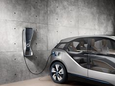 BMW is trying to make it easier to charge an electric car on the go, unveiling a prototype charging station built into a streetlight.