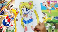 How to draw chibi sailor moon / Vẽ Thủy thủ mặt trăng siêu dễ thương