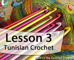 Learn how to Tunisian Crochet with Mikey. Mikeys video series will take you through the basics showing you exactly what to do. Lesson 3.