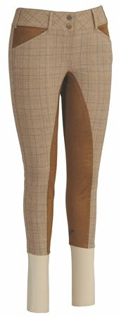 TuffRider Ladies Highland Bamboo Plaid Full Seat Breeches $69.97