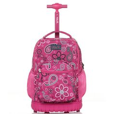 Children Trolley School Bags kids Trolley Backpack 18 inch Travel Luggage Backpack with Wheels Rolling Backpack For Girls