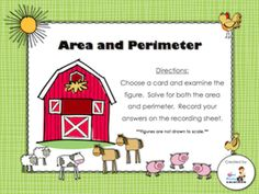 Day 17 Freebie - Area & Perimeter (students will find the area and perimeter of each figure; recording sheet and answer key included)