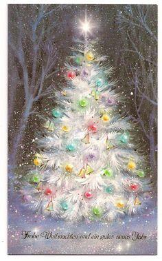 Old Christmas Lights Vintage Christmas Images, Christmas Scenes, Christmas Past, Retro Christmas, Vintage Holiday, Christmas Pictures, Christmas Greetings, Winter Christmas, Christmas Lights