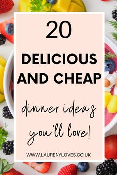 20 quick and easy dinner ideas that the whole family will love. Healthy dinner ideas that you must try tonight. Click to discover 20 family dinner ideas that are delicious and cheap. Don't ever be stuck of delicious dinner ideas again with that cheap and simple dinner ideas that everyone will love. Cheap Easy Meals, Cheap Dinners, Easy Recipes, Healthy Recipes, Cooking For One, Food To Make, Dinner Ideas, Main Dishes, Good Food