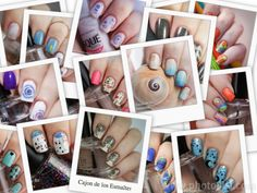 Nail art with water decals  #nailart #nails #decals