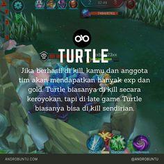 Turtle adalah monster menyerupai kura-kura di arena Mobile Legends. Jika di kill, kamu dan tim bisa mendapatkan banyak exp dan gold.
