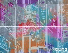 City brings us the vitality and discreet complexity of an extremely cosmopolitan city. Mural consisting of two sets of four tiles that can create as Candy Colors, Wall, Tiles, Creativity