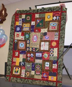 My son's Eagle Scout quilt I made.