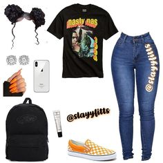 crop top outfits plus size Swag Outfits For Girls, Boujee Outfits, Cute Swag Outfits, Teenage Girl Outfits, Cute Outfits For School, Teen Fashion Outfits, Dope Outfits, Trendy Outfits, Fashion Models