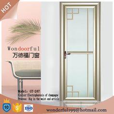 Aluminum doors and Windows design bathroom door made in China