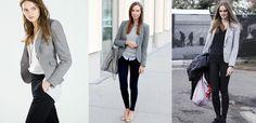 Como combinar um blazer cinza. O blazer converteu-se em uma peça básica para muitas mulheres e isto se deve à sua grande versatilidade. Serve para qualquer época do ano e é perfeito para dar um toque mais elegante a qualquer look o...