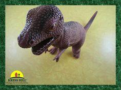 Retro Large Brown Dinosaur 10 Tall Heavy Duty by KressHillVintage
