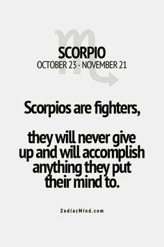 Scorpio are fighters