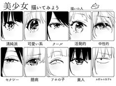 Anime Drawings Sketches, Anime Sketch, Manga Drawing, Art Drawings, Manga Eyes, Anime Eyes, Drawing Techniques, Drawing Tips, Drawing Reference Poses