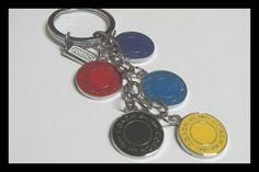 Designer inspired Logo Red Key Chain by Chanel C Diamond Free Box