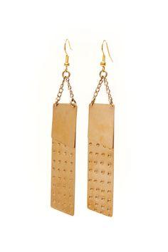 Fair Trade Brass Earrings, Handmade in Nairobi, Kenya {greenola.com}