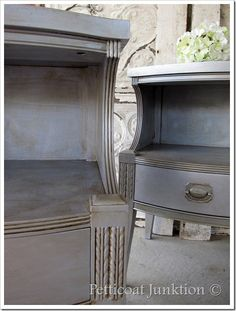silver painted furniture - how to