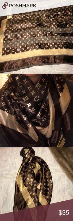Louis Vuitton scarf/sash or bag tie Louis Vuitton sash can be used as a bag tie or a scarf Louis Vuitton Accessories Scarves & Wraps
