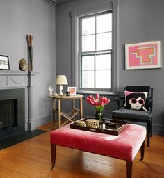 NOT this color, but check out Woodlawn Silver Brookk by  Valspar, really like that blueish gray.  Deborah.  paint trends we love for 2016 on domino.com
