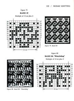 Mosaic Knitting Barbara G. Walker (Lenivii gakkard) Mosaic Knitting Barbara G… Intarsia Patterns, Fair Isle Knitting Patterns, Knitting Charts, Mosaic Patterns, Loom Patterns, Knitting Stitches, Knitting Designs, Stitch Patterns, Crochet Patterns