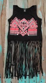 Southwest Cowgirl Fringe Shirt $15.99