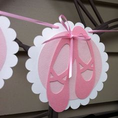 Scallop Baby Girl Ballerina Party Banner/Garland by MyPaperPlanet