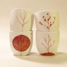 4 Season tree mugs