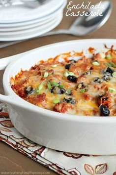Mexican enchilada casserole. This recipe is easy to make and a great week day dinner. INGREDIENTS 1 lb. ground turkey (or beef) 1 medium onion, diced ½ tsp. pepper 1 Tbsp. chili powder 1 (8-oz) can...