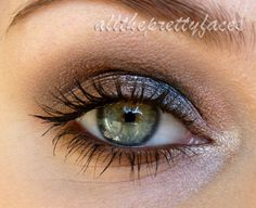 DIY smokey eye: start light, work darker colours to the centre and end on a light note.