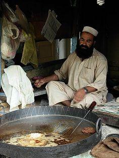 Preparing Chapal Kabab - Peshawar, Pakistan