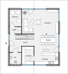 Begane grond Sims House, House Floor Plans, Ground Floor, Future House, Architecture Design, Sweet Home, New Homes, Home And Garden, Interior And Exterior