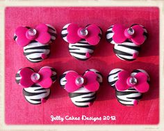 Zebra Minnie Party Favors